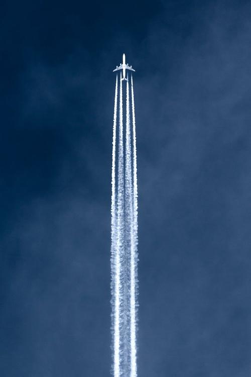 en avión